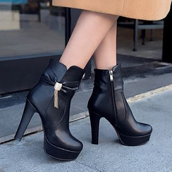 Shoes Galore - High Heel Short Boots