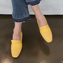 DANI LOVE - Colored Faux-Suede Loafers