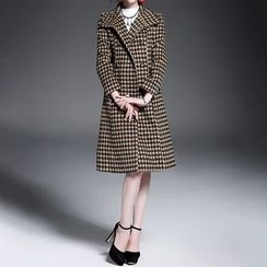Alaroo - Houndstooth Double-Breasted Coat
