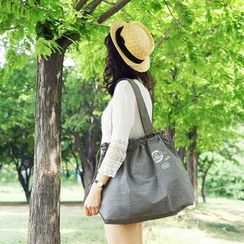BABOSARANG - Drawstring Canvas Shoulder Bag