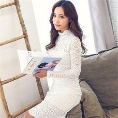 clubber - Lace Bodycon Dress