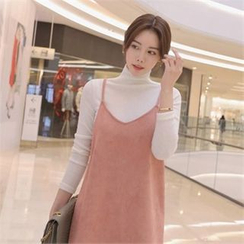 TOM & RABBIT - Mock-Neck Rib-Knit Top