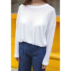 BBORAM - Round-Neck Long-Sleeve T-Shirt
