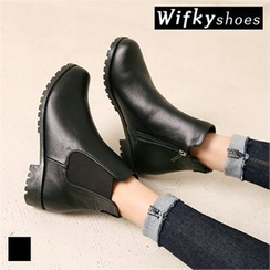 Wifky - Faux-Leather Ankle Boots