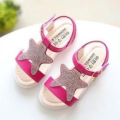 绿豆蛙童鞋 - 童装星星凉鞋