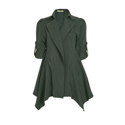 Flore - Tab-Sleeve Trench Coat