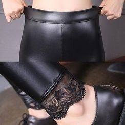 Maine - Faux-Leather Leggings