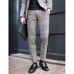 STYLEMAN - Wool-Blend Check Pants