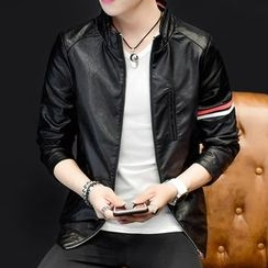 LIBIN - Faux Leather Jacket