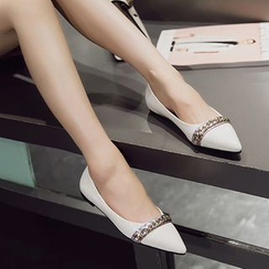 Siya - Chain Pointy Flats