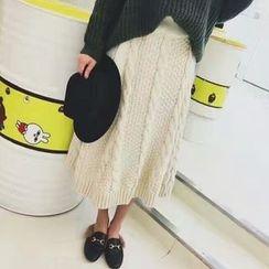 Tulander - 麻花针织中长裙