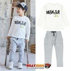 BILLY JEAN - Kids Set: Lettering T-Shirt + Harem Pants