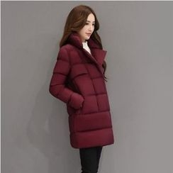 Romantica - Plain Padded Single-Breasted Coat