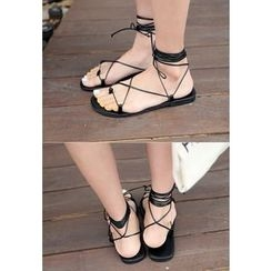 REDOPIN - Ankle-Tie Strappy Sandals