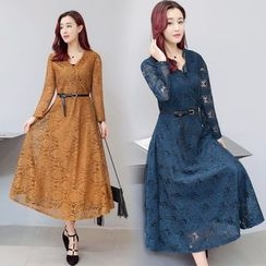 AiSun - Long-Sleeve Lace Dress