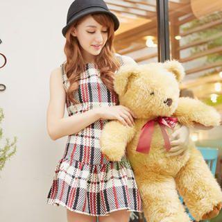 Tokyo Fashion - Sleeveless Plaid Tunic