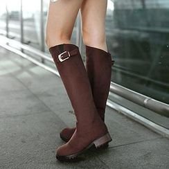 Gizmal Boots - Buckled Tall Boots