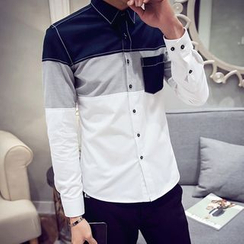 UniMOD - Long-Sleeve Paneled Shirt