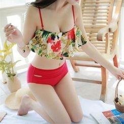 Rachel Swimwear - Floral Print High Waist Bikini