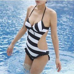 Nadia - Striped Swimsuit