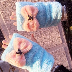 Hats 'n' Tales - Bow Fingerless Mittens