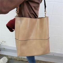 QNIGIRLS - Faux-Leather Shoulder Bag
