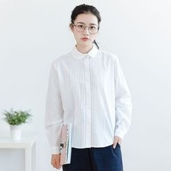 Forest Girl - Pleated Long-Sleeve Shirt