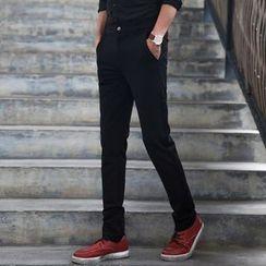 Denimic - Plain Slim Fit Pants
