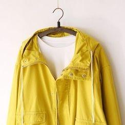 Bonbon - Plain Hooded Jacket