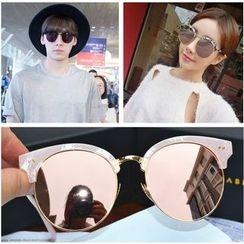 FROME - Mirrored Semi-Rimless Sunglasses