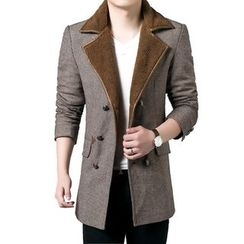 Cipher - Notch Lapel Long Woolen Coat