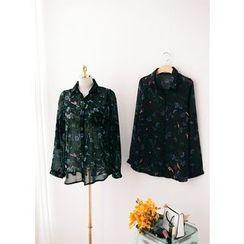 J-ANN - Floral Print Blouse