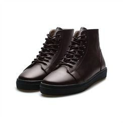 THE COVER - Genuine Leather High-Top Casual Shoes