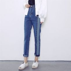 Moon City - Cropped Panel Jeans