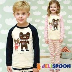 JELISPOON - Kids Pajama Set: Printed Top + Pants