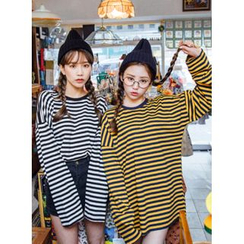 icecream12 - Striped Oversized T-Shirt