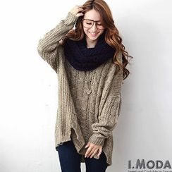 OrangeBear - Long-Sleeve Cable-Knit Top