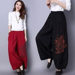 Diosa - Embroidered Harem Pants