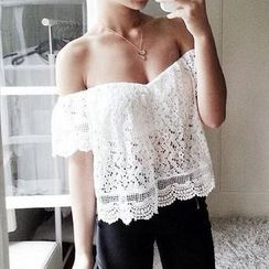 Katemi - Off-Shoulder Lace Top