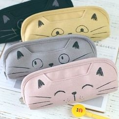Homey House - Cat Canvas Pencil Case