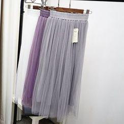 Polaris - 風琴褶網紗裙