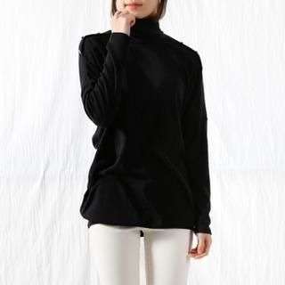 Cocopop - Turtle-Neck Dolman-Sleeve Top