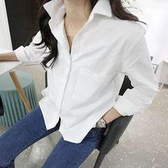 MARSHMALLOW - Dip-Back Shirt