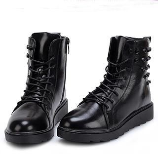 Exull - Lace-Up Studded Ankle Boots