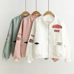 Angel Love - Applique Zip Jacket