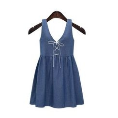 GRACI - Sleeveless Denim Dress