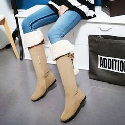 Pastel Pairs - Hidden Wedge Tall Boots