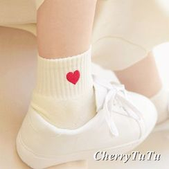 櫻桃兔兔 - 愛心襪子