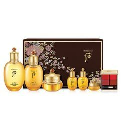 The History of Whoo - Gongjinhyang Secret Court Set: In Yang Essential Moisturizing Balancer 150ml + 20ml + Nourishing Emulsion 110ml + 20ml + Qi & Jin Cream 30ml + Eye Cream 4ml + Lip Palette