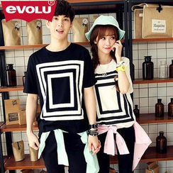 Evolu - Print Couple T-Shirt